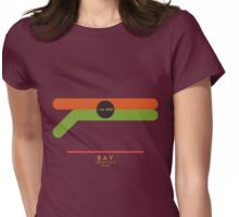 Bay-Yorkville 1966 station Womens Fitted T-Shirt