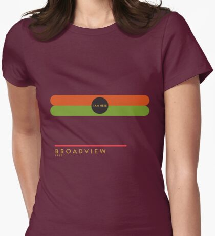 Broadview 1966 station Womens Fitted T-Shirt