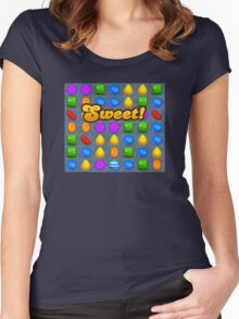 Sweet Candy Crush saga game Women's Fitted Scoop T-Shirt