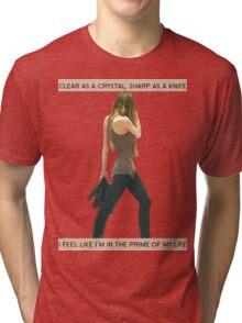 Crystal Clear, Knife Thin Tri-blend T-Shirt