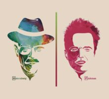 Walter White and Jesse Pinkman (Stylized) by Emma Greenish