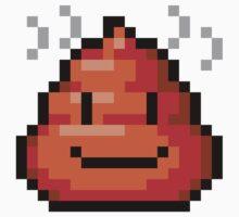 Pixel Smiley Poop T-Shirt