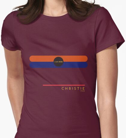 Christie 1966 station Womens Fitted T-Shirt
