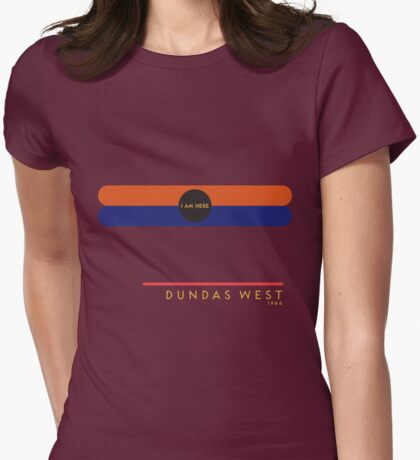 Dundas West 1966 station Womens Fitted T-Shirt