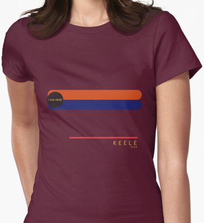 Keele 1966 station Womens Fitted T-Shirt