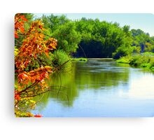 Autumn Is Upon Us..On The Boise River Canvas Print