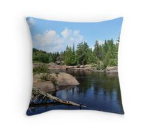 Onaping Falls Northern Ontario  Throw Pillow