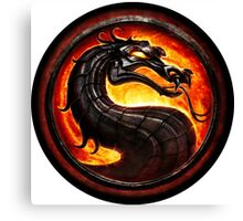 Mortal Kombat logo Canvas Print