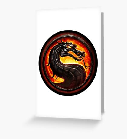 Mortal Kombat logo Greeting Card