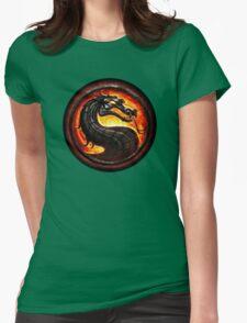 Mortal Kombat logo Womens Fitted T-Shirt