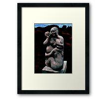 Loving Her Pregnant  Framed Print