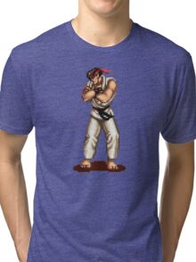 Ryu Victory Pose Street Fighter Tri-blend T-Shirt