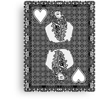 Simple King of Hearts Canvas Print