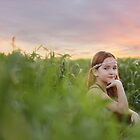 Farm Sunset with Miss Emily by Ashli Zis