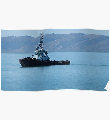 Tug Boat on way to bring in Cargo Ship. Townsville. N.Que. Poster