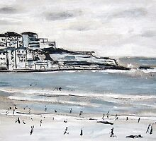 Bondi in Black and White by gillsart