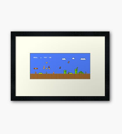 The Many Faces of Mario Framed Print