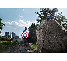 Captain America on a Rock Photographic Print