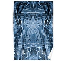 Abstract futuristic pattern Poster