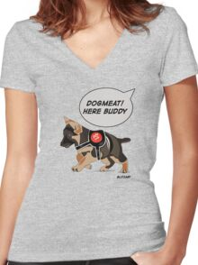 Dogmeat Women's Fitted V-Neck T-Shirt