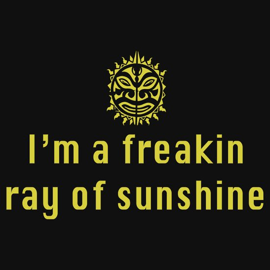 Quot I M A Freaking Ray Of Sunshine Quot T Shirts Amp Hoodies By