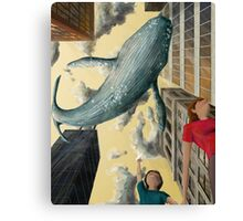 Whale In The Sky Canvas Print