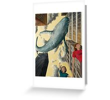 Whale In The Sky Greeting Card