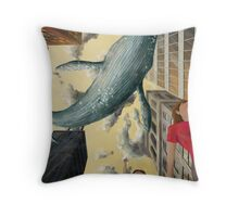 Whale In The Sky Throw Pillow