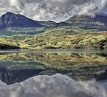 Quinag Reflecting, Sutherland, Scotland by David Alexander Elder