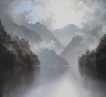 Under the mist beauty lies waiting by Sharon Ellem-Bell