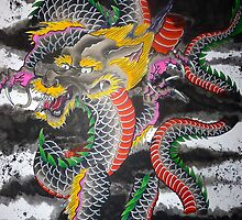 Japanese Dragon by justbuehrle