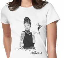 Breakfast at Tiffany's Tattoo Parlour White Womens Fitted T-Shirt