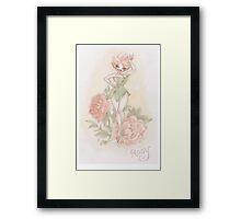 Flower Fairy - Rosy  Framed Print