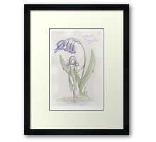 Flower Fairy - Blue Belle  Framed Print