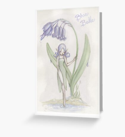 Flower Fairy - Blue Belle  Greeting Card