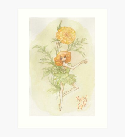 Flower Fairy - Merry Gold Art Print