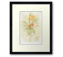Flower Fairy - Merry Gold Framed Print