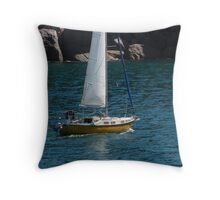 Sailing Back into Marina, Magnetic Island. Far Nth. Que. Throw Pillow