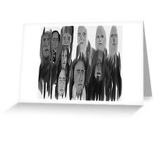 10 Elder Hipsters Greeting Card