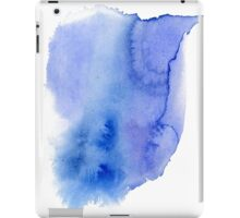 Hand painted blue watercolor abstract blur. Indigo iPad Case/Skin