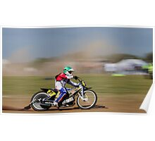 Long Track racing Poster