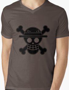 Luffy - OP Pirate Flags Mens V-Neck T-Shirt