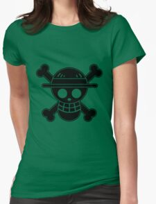 Luffy - OP Pirate Flags Womens Fitted T-Shirt