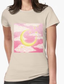 Moon Pink Womens Fitted T-Shirt