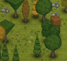 TownCraft Forest iPad Case by FlatEarthGames