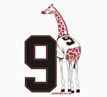 Belt Giraffe (Number Version) Kids Tee