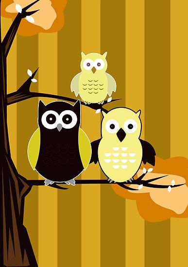 Yellow Owls by Adamzworld