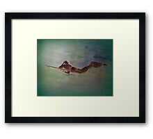 AnOther OReilly ORiginal Painting illusionist todd miller glides effortlessly through water walking on air sea and land its miller time Framed Print