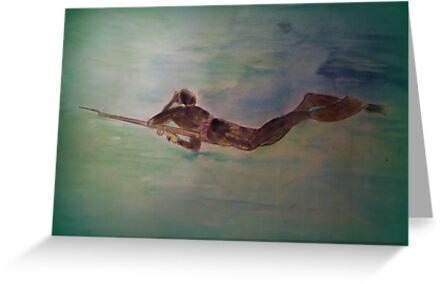AnOther OReilly ORiginal Painting illusionist todd miller glides effortlessly through water walking on air sea and land its miller time by Timothy C O'Reilly