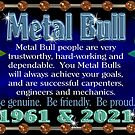 1961 2021 Chinese zodiac born in year of Metal Bull  by Valxart